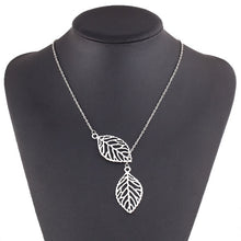 Load image into Gallery viewer, Double Leaf Clavicle Chain Necklace