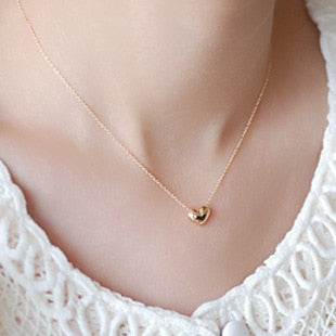 Small Heart Love clavicle chain Necklace