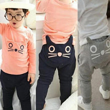 Load image into Gallery viewer, Cotton Cat Print Cotton Baby Trousers