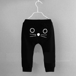 Cotton Cat Print Cotton Baby Trousers