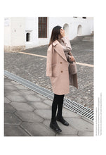 Load image into Gallery viewer, Winter Woolen Mid-Long Female Coat