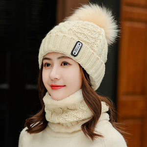 Winter Knitted Beanie Skullies Hat Sets