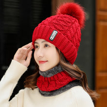 Load image into Gallery viewer, Winter Knitted Beanie Skullies Hat Sets