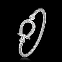 Load image into Gallery viewer, Silver Rhinestone Wrap Cuff Horseshoe Bracelets