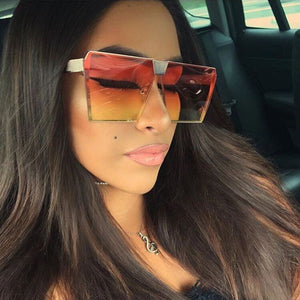 Oversize Shield Gradient Women Sunglasses