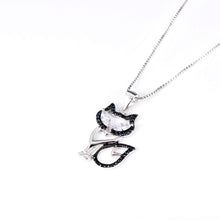 Load image into Gallery viewer, 925 Sterling Silver Fox Pendant Necklace
