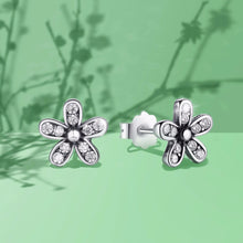 Load image into Gallery viewer, 925 Sterling Silver Dazzling Flower Daisy Stud Earrings