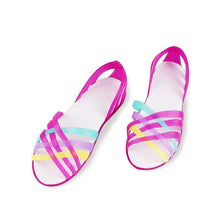 Load image into Gallery viewer, Women Jelly Rainbow Summer Flat Shoe
