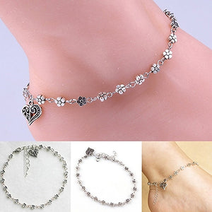 Flower Chain Ankle Bracelet Beach Foot Jewelry