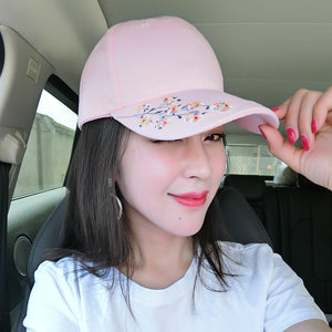 Flower Embroidery Cotton Baseball Cap