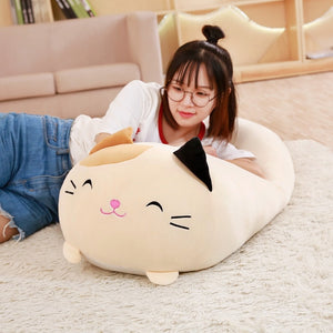 Soft Fat Cartoon Cat Pillow