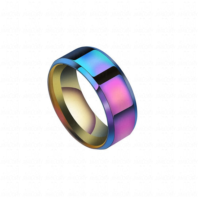 Titanium Steel Wedding Band Ring (Men)