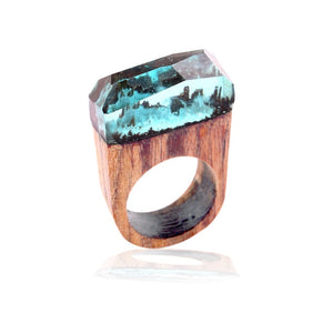 Handmade Wooden Resin Ring
