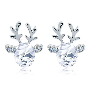 Antler Crystal Three-Dimensional Earrings