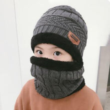 Load image into Gallery viewer, Children Winter Balaclava Beanies Knitted Hat and Scarf