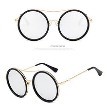Load image into Gallery viewer, Retro Round Luxury Mirror Women Sunglasses
