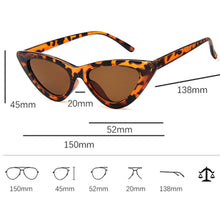 Load image into Gallery viewer, Vintage Retro Triangular Cat Eye Sunglasses