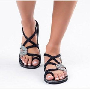 Women Summer Gladiator Flat Sandals