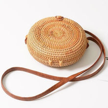 Load image into Gallery viewer, Handmade Round Crossbody Rattan Bags