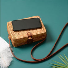Load image into Gallery viewer, Handmade Square Crossbody Rattan Bags