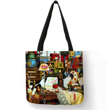 Load image into Gallery viewer, Oil Painting Cat Print Women Tote Bag