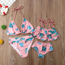 Load image into Gallery viewer, Mommy&Me Summer Sweet Floral Set Swimsuit