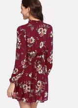 Load image into Gallery viewer, Floral Multicolor Elegant Long Sleeve Dress