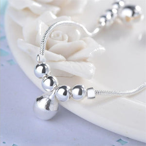 925 Sterling Silver Round Beads Ankle Bracelet