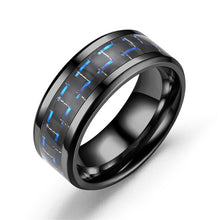 Load image into Gallery viewer, Black Tungsten Carbide Titanium Steel Ring