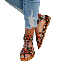 Load image into Gallery viewer, Bohemian Roman Summer Flat Sandals