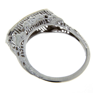 1920s Filigree 3 Stone Diamond Anniversary Band - Chicago Pawners & Jewelers