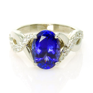 4.40ct Tanzanite & Diamond Ring - Chicago Pawners & Jewelers