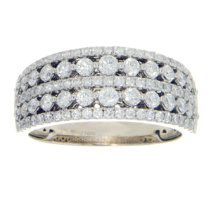 1.50ct 5 Row Diamond Band Ring