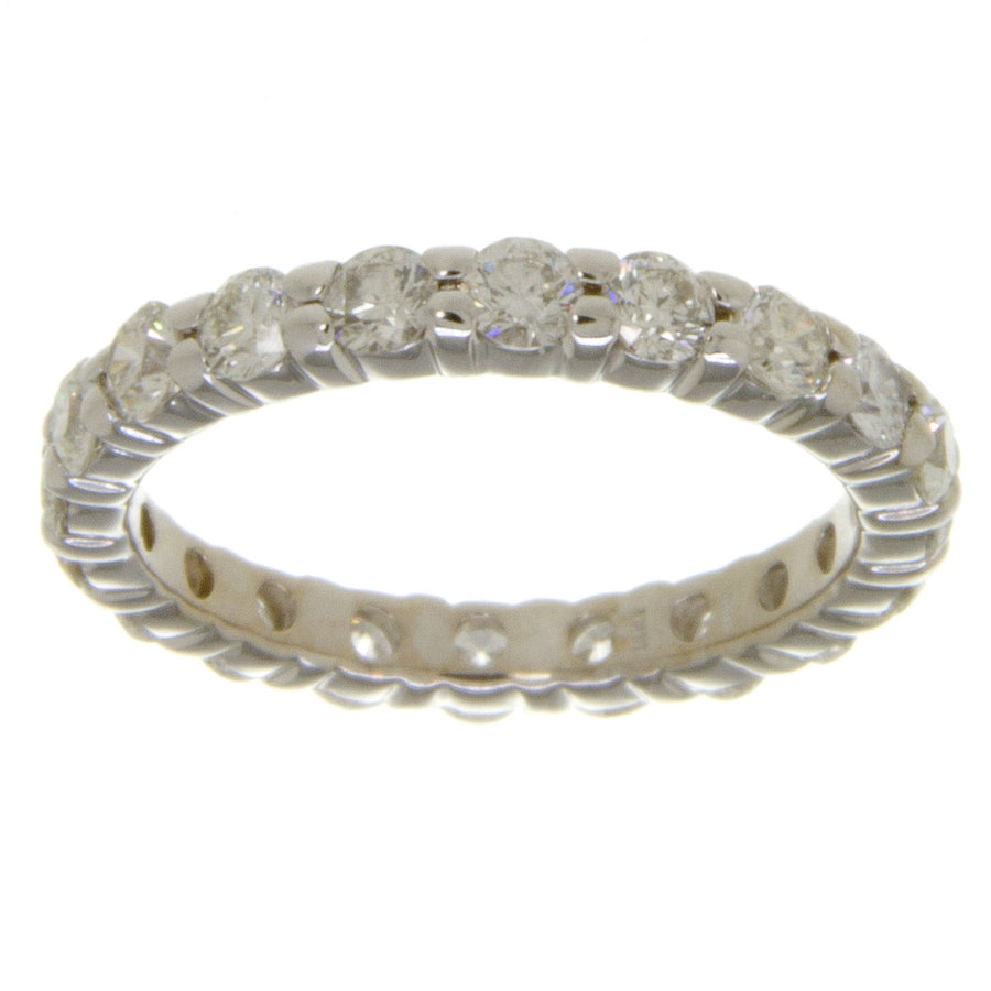 White Gold 2.00ct Diamond Eternity Band - Chicago Pawners & Jewelers