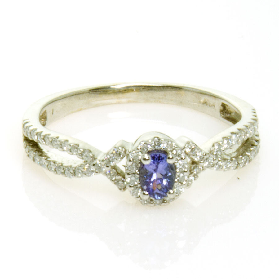 14kt WG Tanzanite & Diamond Ring - Chicago Pawners & Jewelers