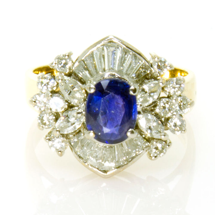 2.50ct Sapphire & Diamond Cocktail Ring