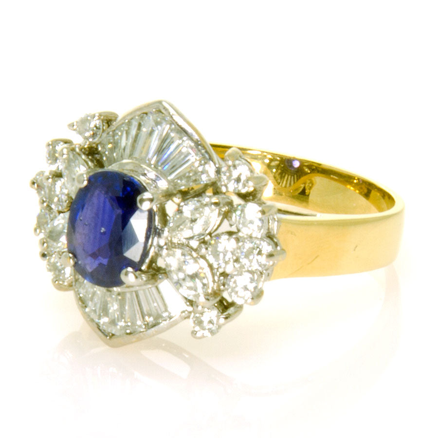 2.50ct Sapphire & Diamond Cocktail Ring - Chicago Pawners & Jewelers