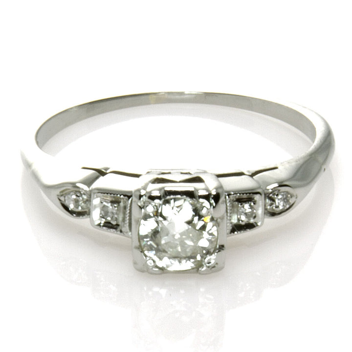 Art Deco 18K Diamond Engagement Ring - Chicago Pawners & Jewelers