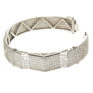 Bold 14.00 ct. Diamond Bangle Bracelet - Chicago Pawners & Jewelers