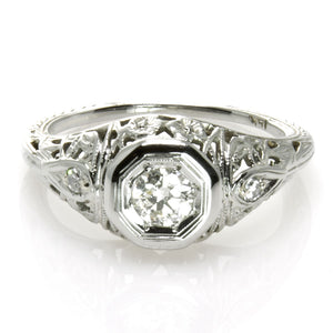 1910s Filigree Diamond Engagement Ring - Chicago Pawners & Jewelers