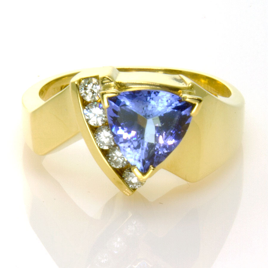 2.00ct Tanzanite & Diamond Ring in 18K - Chicago Pawners & Jewelers
