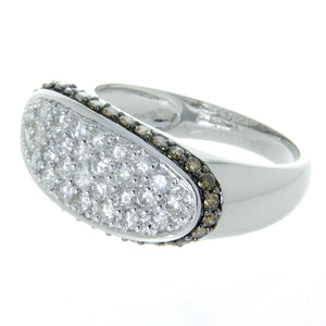 White & Chocolate Pavé Diamond Ring - Chicago Pawners & Jewelers