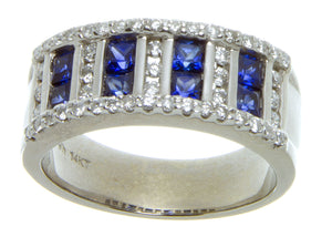 1.50ct Tanzanite & Diamond Band Ring - Chicago Pawners & Jewelers