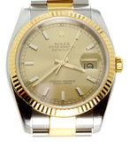 Rolex Datejust SS/18K Champagne Dial