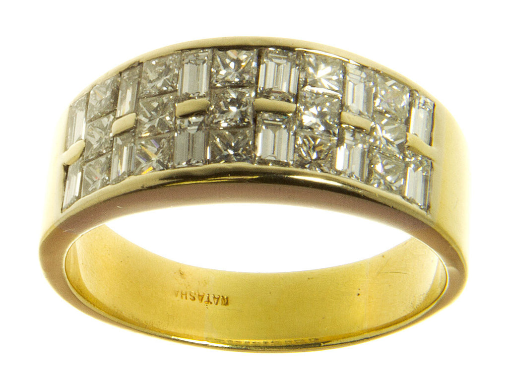 18kt Princess & Baguette Diamond Ring by Natasha - Chicago Pawners & Jewelers