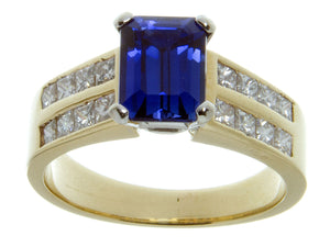 2.50ct Tanzanite & Diamond Ring - Chicago Pawners & Jewelers