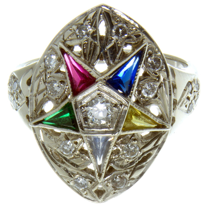 Vintage Diamond Eastern Star Ring