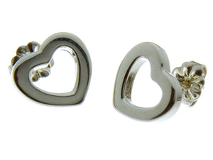 Tiffany Open Heart Earrings - Chicago Pawners & Jewelers