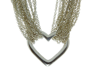 Tiffany & Co. Multi-Strand Heart Chain Necklace