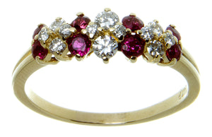 1.10ct Ruby & Diamond Band Ring - Chicago Pawners & Jewelers